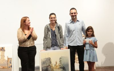 Ana María Monzó guanya el premi especial del Casino Musical en el XVI concurs de pintura ràpida