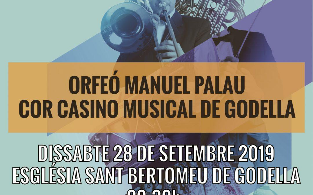 Concert-intercanvi cor Casino Musical i orfeó Manuel Palau