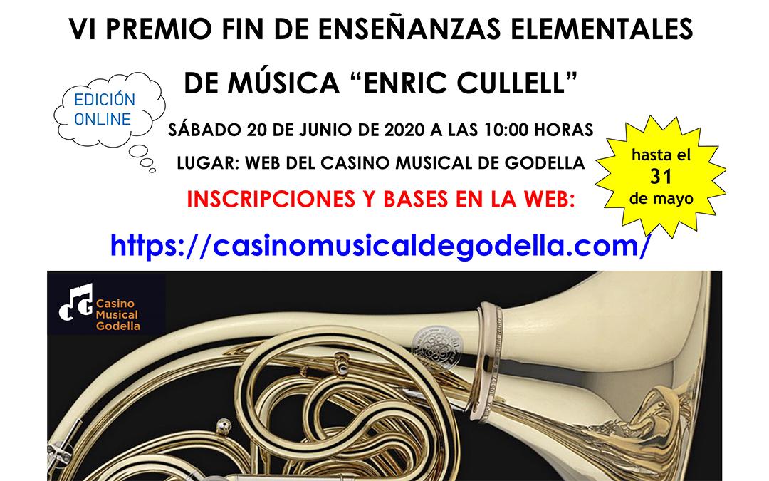 L'escola de música de Godella obri la convocatòria per participar als VI Premis 'Enric Cullell'