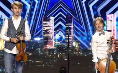 Pablo i Alejandro Turlo, ex alumnes de l'Escola de Música de Godella, deixen bocabadat a Risto en Got Talent